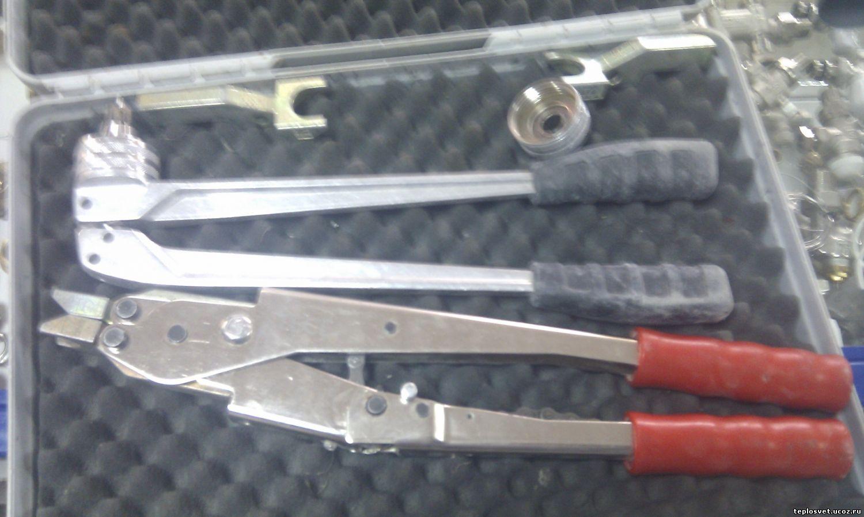 Опрессовка труб из сшитого полиэтилена инструмент
